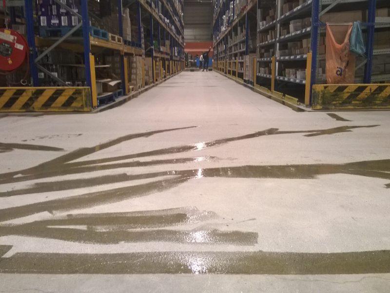 Betonvloer stralen en coaten